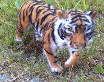 Needle Felted Tiger Big Cat Made to Order