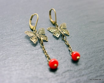 Butterfly art deco earrings