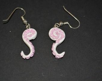 Polymer Clay Tentacle Drop Earrings