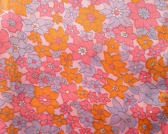 1960s Length of Vintage Retro Fabric