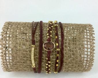 5 wrap micro-macrame bracelet, bohemian friendship bracelet