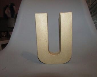 8' Paper mache letter U