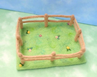 Needle Felt Farm Pasture Playscape - Waldorf inspired
