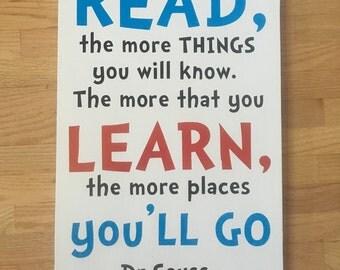 Dr seuss reading sign