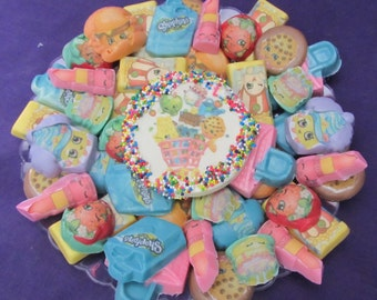 Shopkins chocolates candy tray