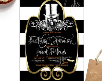 Halloween Birthday invitation - Halloween Party invitation - Modern - Costume Party - Gibb K Studio - TK_A165