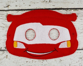 Race Car Mask Children's Felt Mask  - Costume - Theater - Dress Up - Halloween - Face Mask - Pretend Play - Party Favor