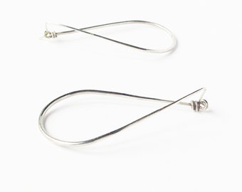 Sterling silver earrings. Minimalist geometric modern. Handmade.