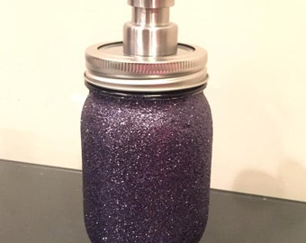 Glitter Mason Jar Soap Dispenser