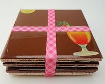 Tile Coaster - Furniture Savers - Recycled Coasters - Drink Coasters - Drink Saver - Ceramic Tile Coasters - Home Saver - Furniture Coaster