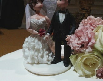 Personalized bride and groom figures
