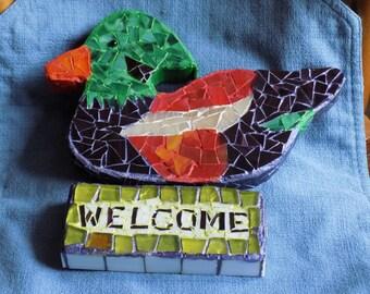 Mosaic Duck/Mallard Welcome Sign