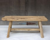 Antique Teak, Repurposed Solid Wood Bench