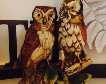Vintage ceramic owls