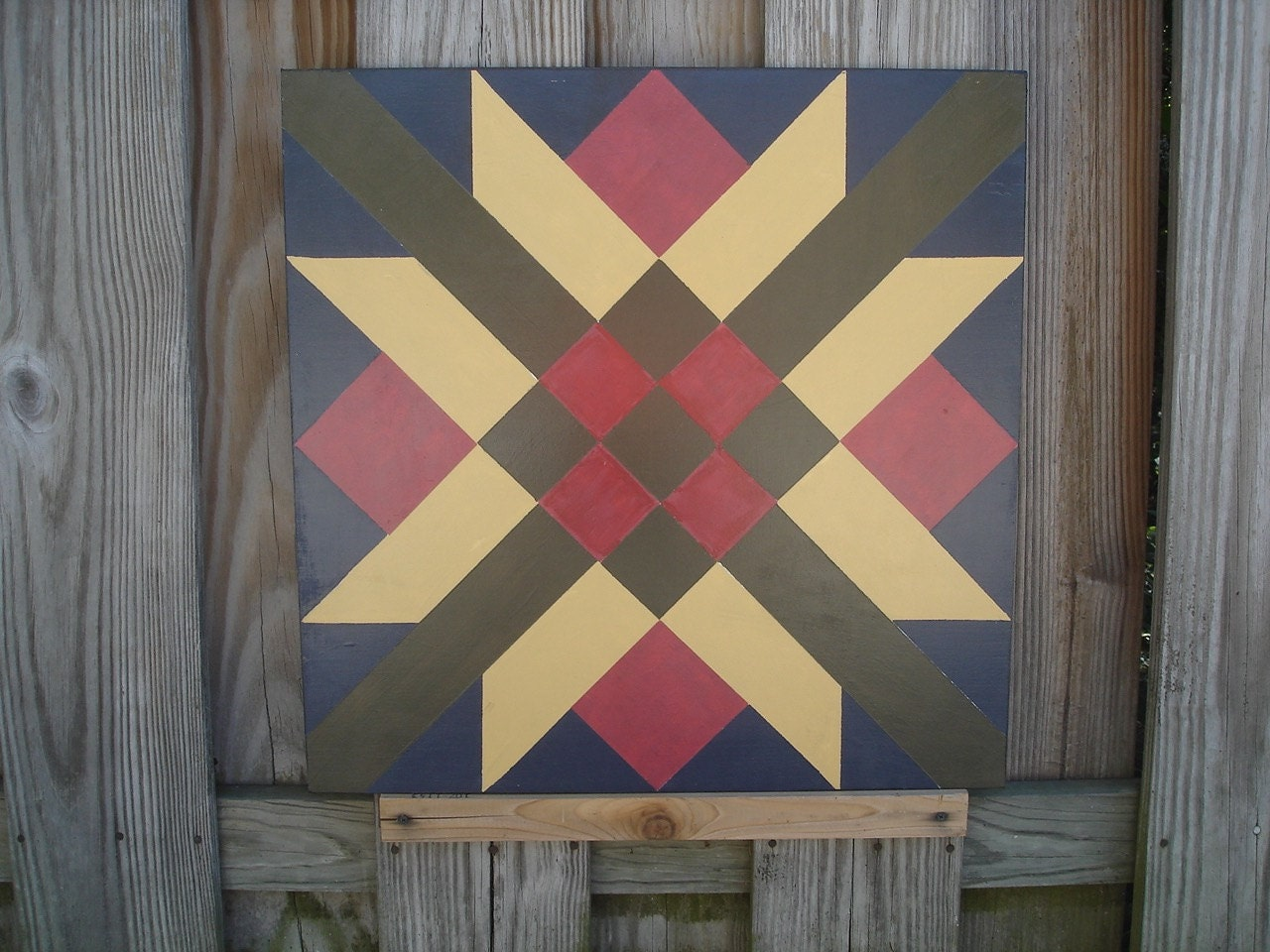 Painted barn quilt for house garage or shed for Garden shed quilting