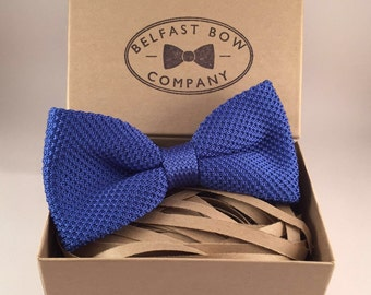 Knitted Bowtie in Blue