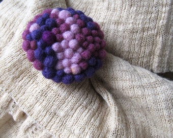 Needle felted brooch Bubbles  Felted Brooch  Handmade felted jewelry