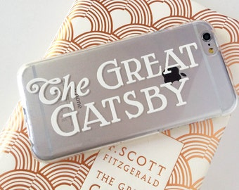Gatsby Clear Phone Case  - Clear Case - For iPhone 8, 8 Plus, X, iPhone 7 Plus, 7, SE, 5, 6S Plus, 6S,6 Plus, Samsung S8,S8 Plus,Transparent