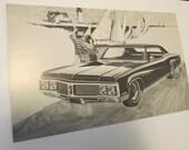 1970 Buick Lasabre Dealership Promotional Post Card / Postcard