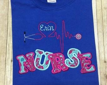 Personalized nurse shirt