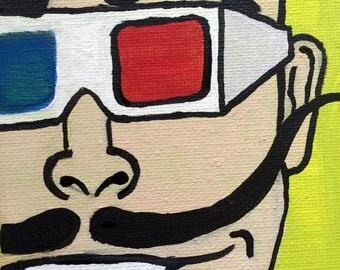 3D Mustache Man