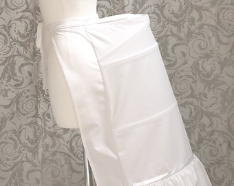 Victorian Bustle, skirt support, white