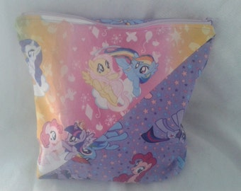 My Little Pony / Ponies zippered pouch / project bag
