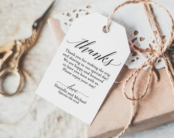 Thank You Tag, Wedding Thank You Tags, Gift Tags, Wedding Favor, Thank You Printable, Wedding Printable, PDF Instant Download #BPB310_32