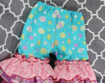 Easter Triple Ruffle Pants or Capris - Newborn to Children size 8