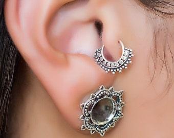Tragus piercing. silver cartilage hoop. helix earring. tragus earring. cartilage jewelry. tragus earring. cartilage earring. helix hoop.
