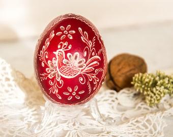 Articoli simili a decorato uovo di oca pasqua uova pysanky uova dipinte forato uova di oca - Uova di pasqua decorazioni ...