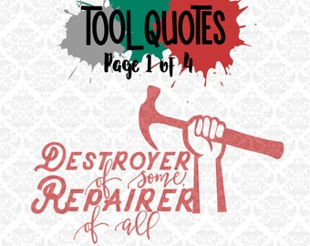 Fix It Repair Mechanic Tools Daddy Grandpa SVG DXF Ai EPS Scalable Vector Instant Download Commercial Use Cutting File Cricut Silhouette