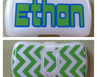 Personalized Baby Wipes Case | Wipes Container | Monogrammed Wipes Case | Chevron Baby Wipes Case | Personalized Wipes Case