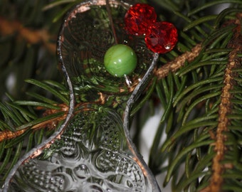 Clear Stained Glass Christmas Ornaments