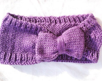 Knit Bow Headband / Earwarmer