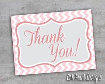 Baby Girl Shower Thank You Cards