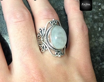 Moonstone Rings, Sterling Silver Ring, Gemstone Ring