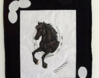 Black Horse Wall Hanging