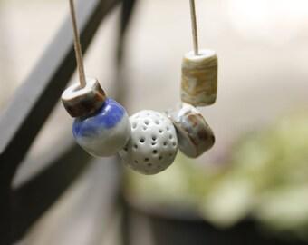 Porcelain Five Bead Necklace