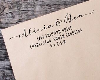 Rustic Wedding Stamp - Wedding Address Stamp - RSVP Address Stamp - Self Inking Address - Custom Address Stamp - Return To Stamp - 069