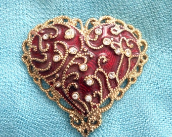 Vintage Monet Brooch in HEART shape