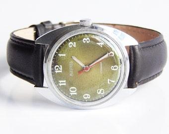 Wostok mens watch vintage, Soviet Watch Mens, Watch Vostok USSR, men's watch Wostok,Mechanical wrist watch, Old mens watch, rare watch, Gift