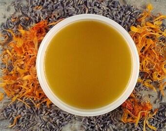 Calendula Lavender Healing Salve - chapped skin salve - minor cuts salve - first aide salve -healingsalve 4 ounce