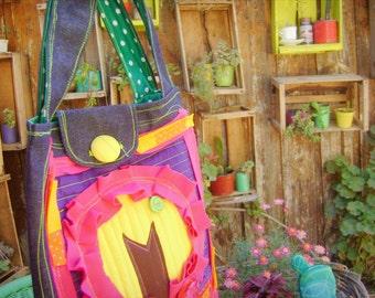 Bolso Circolor de mezclilla/ Fabric Bag
