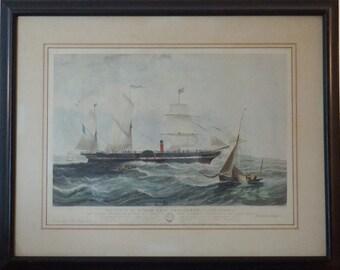 The Steam Ship President - 1840