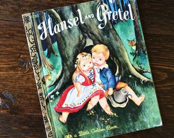 Hansel & Gretel Little Golden Book / Eloise  Wilkin 1982 / Vintage Hardcover