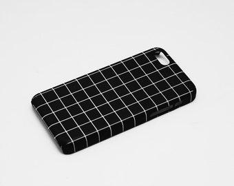 The Grid - Monochrome - Full printed case for iPhone - by HeartOnMyFingers - CMB-027