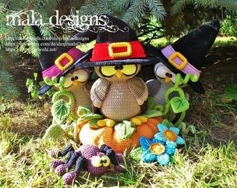 owls - a crochet pattern by mala designs