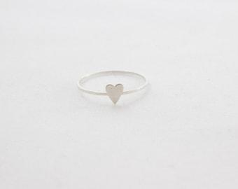 Dainty Heart Ring in Sterling Silver