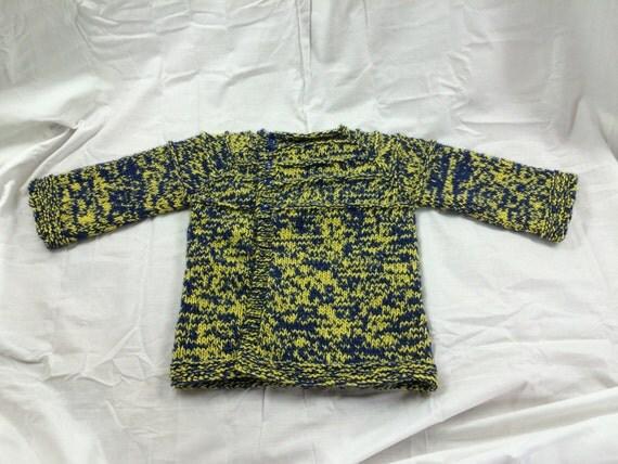 Gold & Navy Blue Child's Team Spirit Sweater 12-18mo